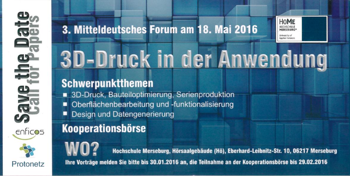 3. Mitteldeutsches Forum Am 18.05.2016